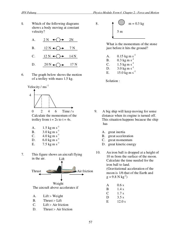 PHYSICS FORM 4 CHAPTER 2 EXERCISE PDF