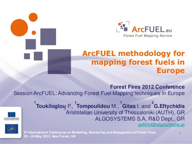 ArcFUEL methodology for                                           mapping forest fuels in                                 ...