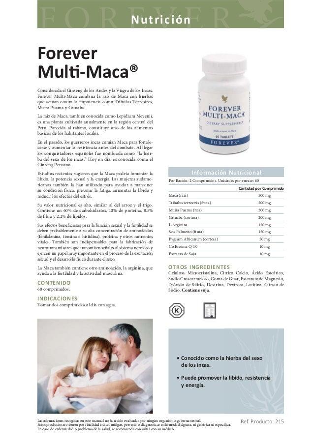 NutriciónForeverMul -Maca®Considerada el Ginseng de los Andes y la Viagra de los Incas.Forever Multi-Maca combina la raíz ...