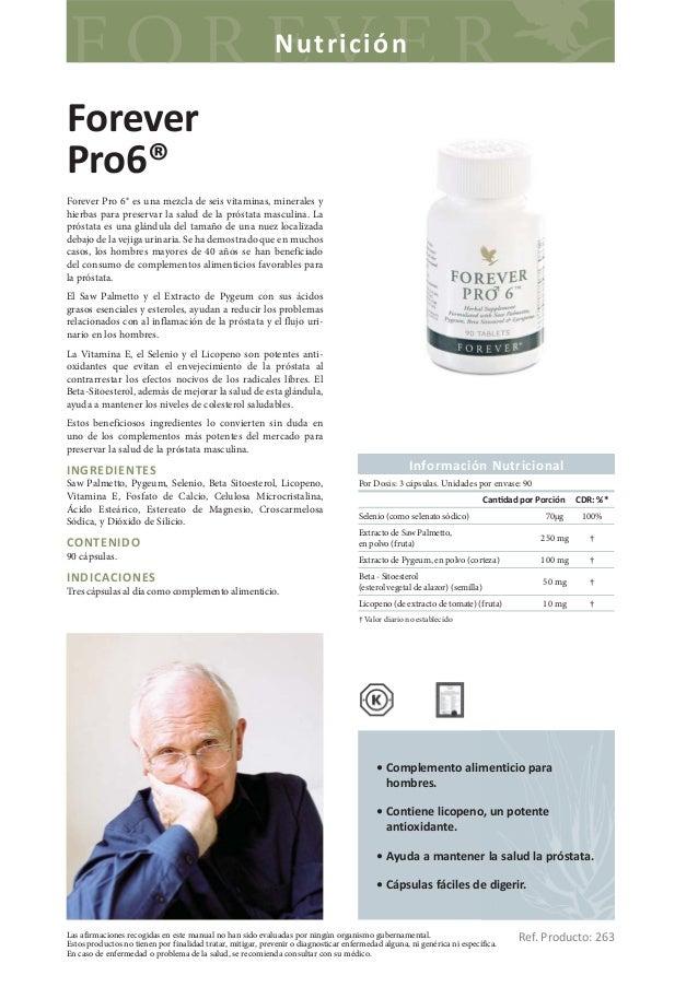 NutriciónForeverPro6®Forever Pro 6® es una mezcla de seis vitaminas, minerales yhierbas para preservar la salud de la prós...