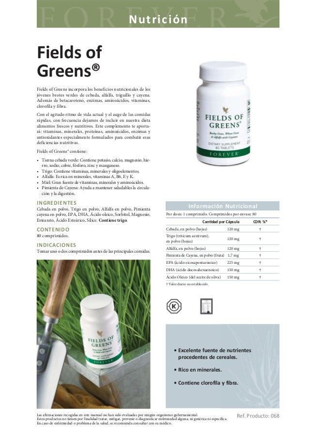 NutriciónFields ofGreens®Fields of Greens incorpora los beneficios nutricionales de losjóvenes brotes verdes de cebada, al...