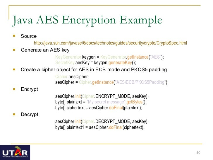 Java cryptography tutorials 1 aes encryption and decryption using.