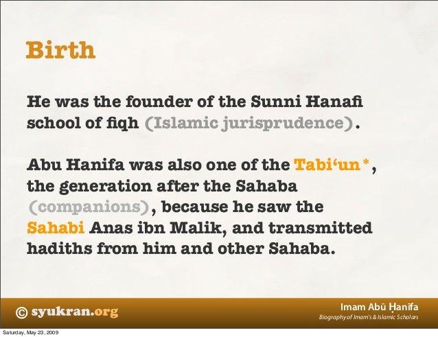 Biography Imam Hanafi