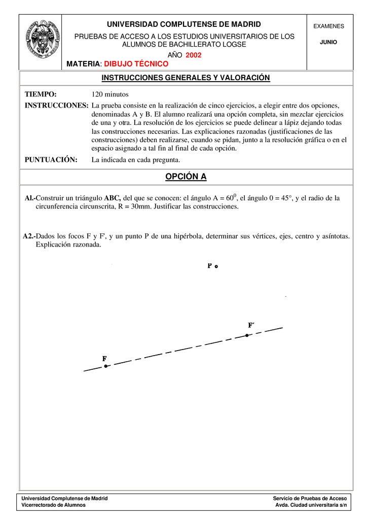 UNIVERSIDAD COMPLUTENSE DE MADRID                                    EXAMENES                     PRUEBAS DE ACCESO A LOS ...