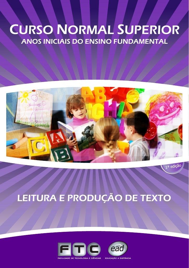 LEITURAE   PRODUÇÃO    DE TEXTO               1