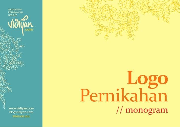 Logo Pernikahan - Monogram