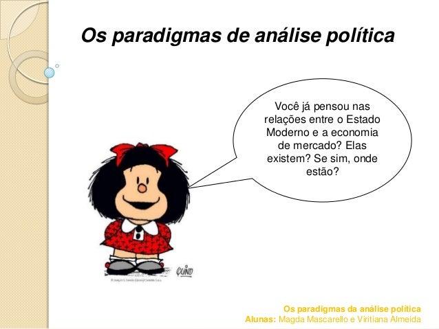 Os paradigmas de análise política                       Você já pensou nas                     relações entre o Estado    ...