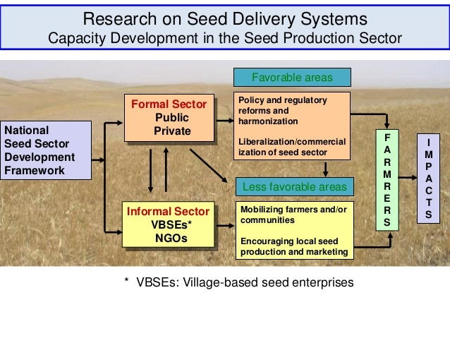 Research on Seed Delivery Systems      Capacity Development in the Seed Production Sector                                 ...