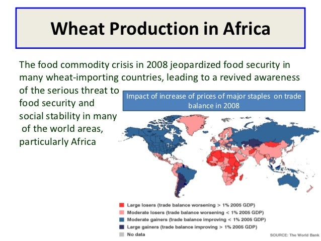 Wheat Production in AfricaThe food commodity crisis in 2008 jeopardized food security inmany wheat-importing countries, le...