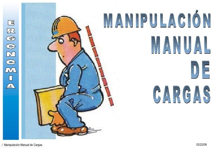 MANIPULACIÓN DE CARGAS MANUAL
