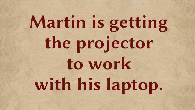 Martin is getting the projector to work with his laptop.