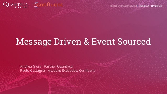 Message Driven and Event Sourcing Slide 2