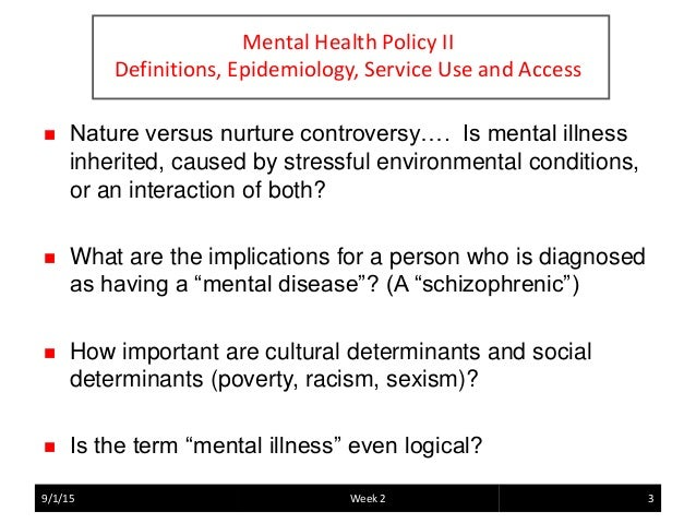nature vs nurture mental health