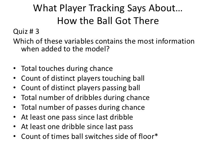 The Importance Of Being Open What Player Tracking Data Can Say About