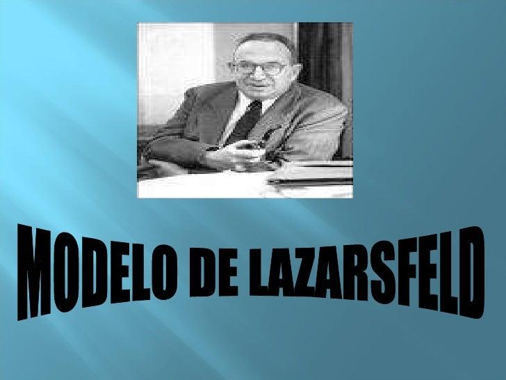 MODELO DE LAZARSFELD
