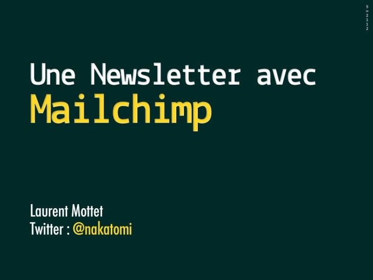 Creer et envoyer une newsletter avec Mailchimp