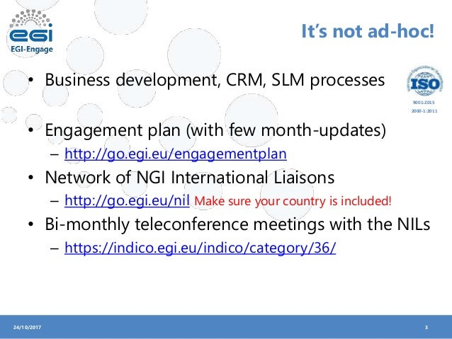 EGI Engagement Plan (Gergely Sipos) Slide 3