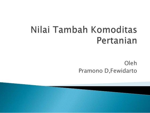 OlehPramono D,Fewidarto