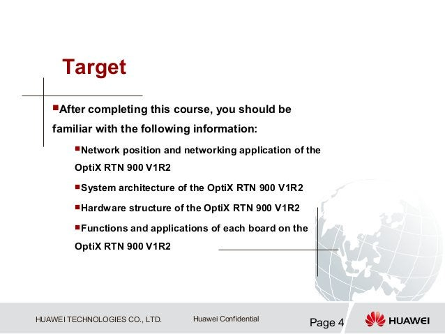 Target   After   completing this course, you should be   familiar with the following information:         Network   posi...