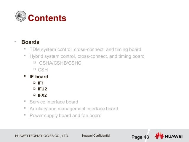 Contents•   Boards     TDM system control, cross-connect, and timing board     Hybrid system control, cross-connect, and...