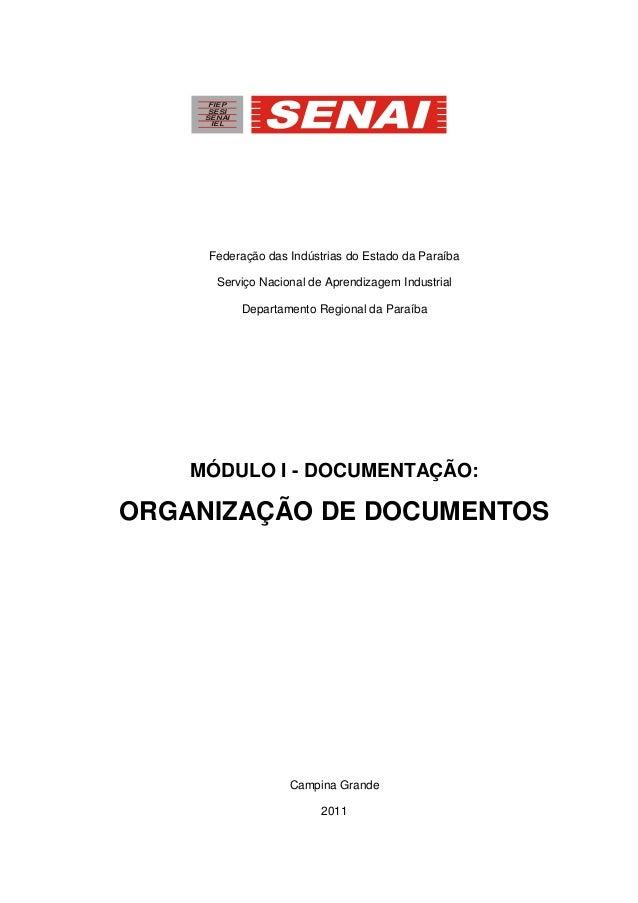 Federação das Indústrias do Estado da Paraíba Serviço Nacional de Aprendizagem Industrial Departamento Regional da Paraíba...