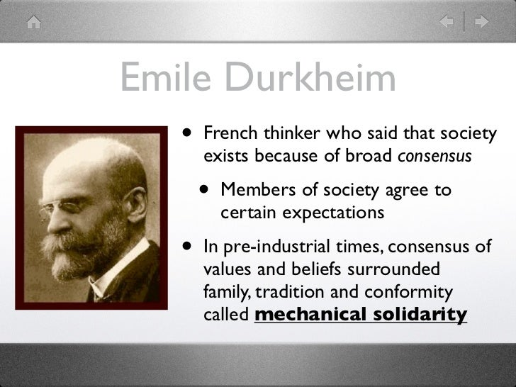 emile durkheim social solidarity essay The division of labor in society was written by emile durkheim in 1893  of  social solidarity, according to durkheim: mechanical solidarity and.