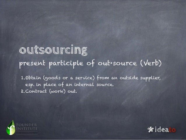 Outsourcing, partners or suppliers? Slide 2