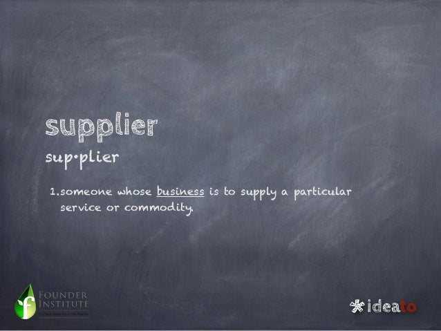 Outsourcing, partners or suppliers? Slide 3