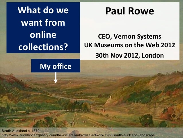 What do we                                           Paul Rowe          want from            online                       ...