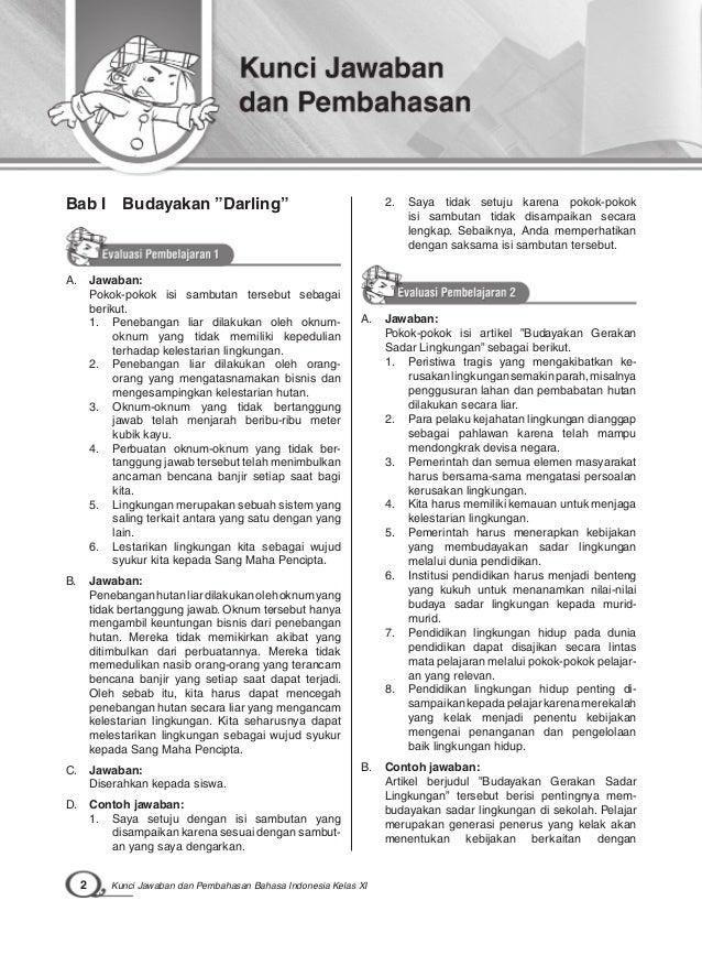 Kunci Jawaban Buku Mandiri Bahasa Indonesia Kelas 8 Penerbit Erlangga Kurikulum 2013 Ilmusosial Id