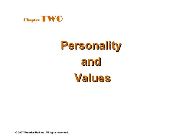 Chapter         TWO                                      Personality                                         and          ...