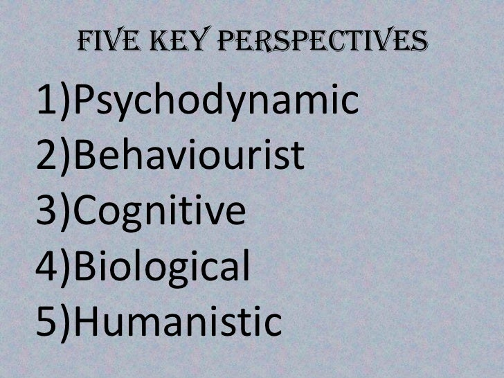 key perspectives in psychology