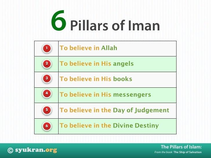 6 Pillars of Iman          To believe in Allah     1             To believe in His angels     2             To believe in ...