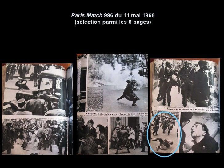 Paris Match  996 du 11 mai 1968 (sélection parmi les 6 pages)