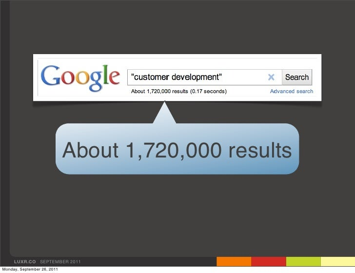About 1,720,000 results     LUXR.CO SEPTEMBER 2011Monday, September 26, 2011