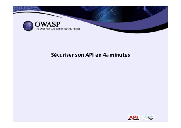 Sécuriser  son  API  en  4(,2)  minutes