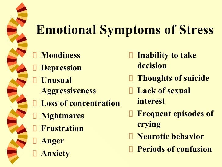 Symptoms of sexual frustration