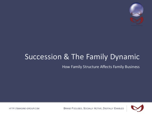 HTTP://EMAGINE-GROUP.COM BRAND FOCUSED, SOCIALLY ACTIVE, DIGITALLY ENABLED Succession & The Family Dynamic How Family Stru...