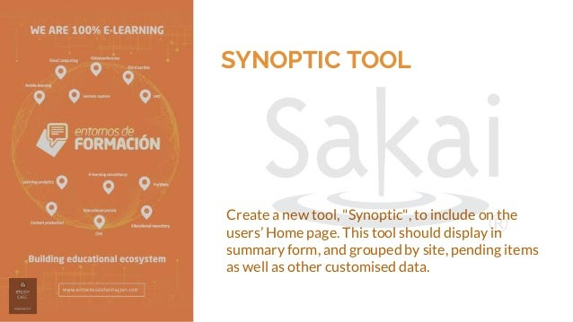 """SYNOPTIC TOOL Create a new tool, """"Synoptic"""", to include on the users' Home page. This tool should display in summary form,..."""