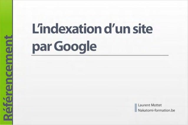 Formation référencement - Technique d'indexation d'une page web