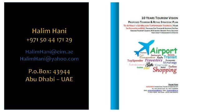 Halim Hani - HH-PVD001-PackageVisitorDeals-Tourism & Retail Strategy-10M Travelers year