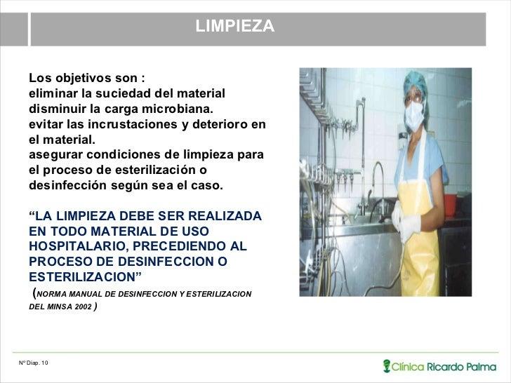02 ut 1 6 esterilizacion y desinfeccion for Manual de limpieza y desinfeccion en restaurantes