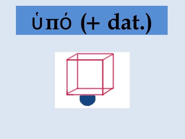 π (ὑ ό + dat.)
