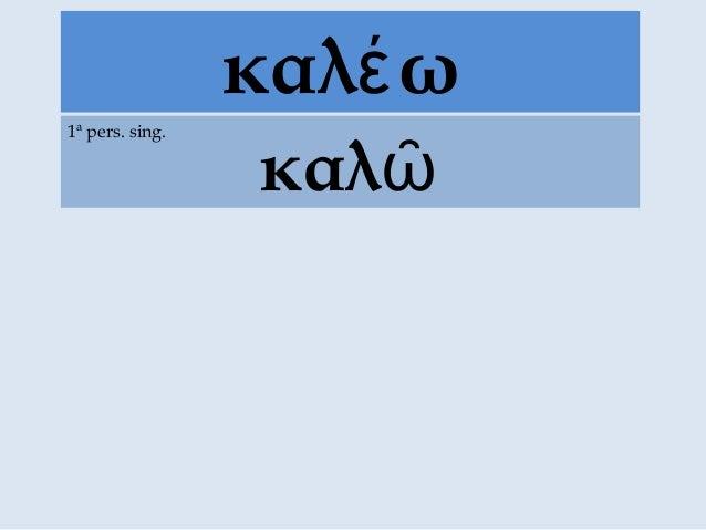 καλ ωέ καλῶ 1ª pers. sing.