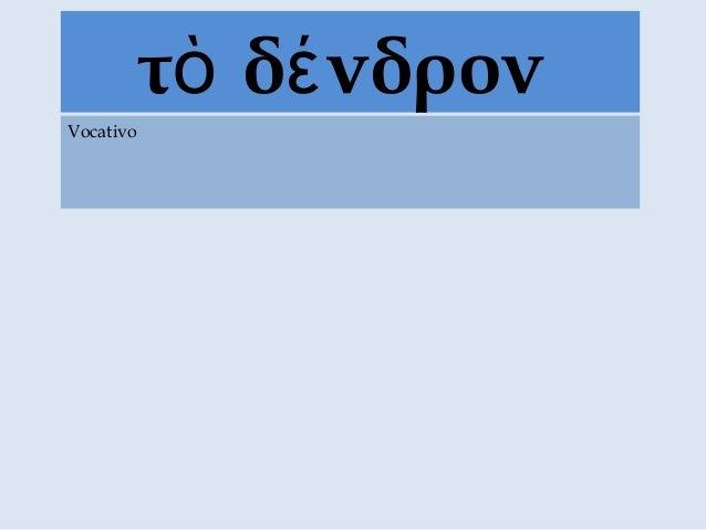 τ δ νδρονὸ έ Vocativo