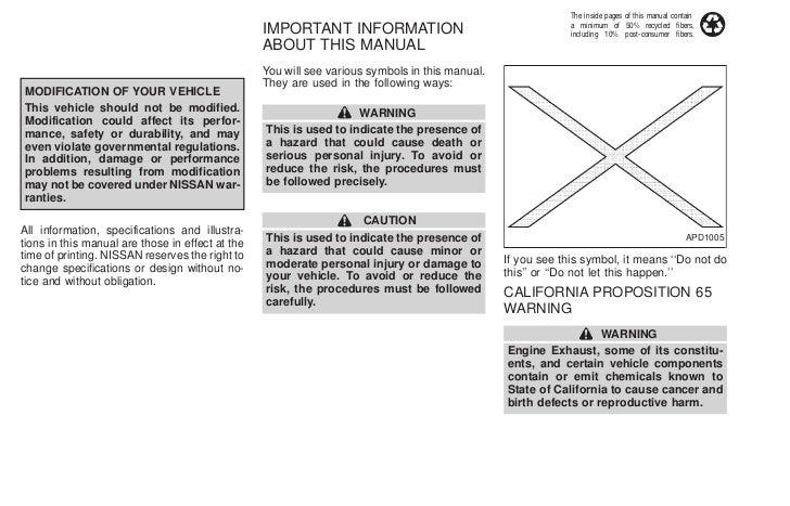 2002 nissan xterra owners manual