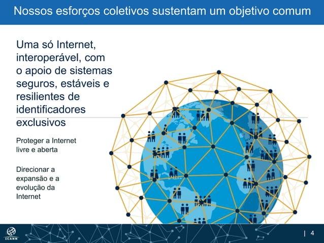 | 4 Proteger a Internet livre e aberta Direcionar a expansão e a evolução da Internet Uma só Internet, interoperável, com ...