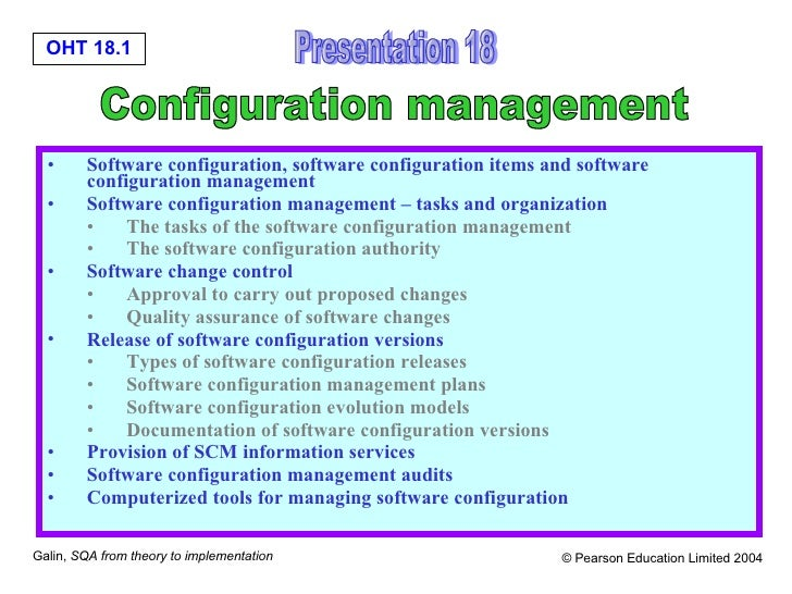 <ul><li>Software configuration, software configuration items and software configuration management  </li></ul><ul><li>Soft...