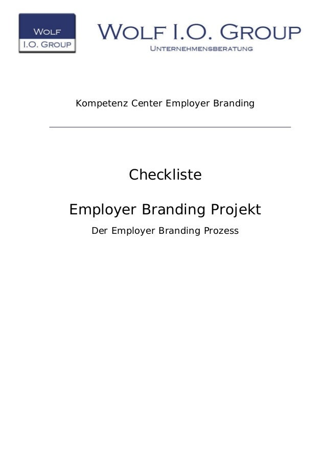Kompetenz Center Employer Branding Checkliste Employer Branding Projekt Der Employer Branding Prozess