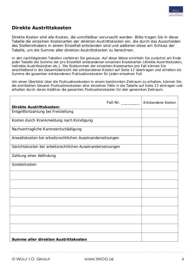 checkliste fluktuationskosten berechnen
